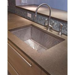 Stainless Steel Undermount Kitchen Sinks Country Lighting Linkasink V031 Um At Michael Wagner And Sons Sink W Mosaic Tile Interior No Color Or Option Choose Drain