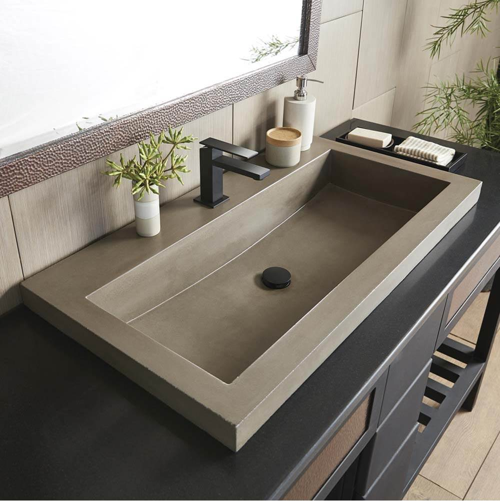 trough 3619 bathroom sink in earth