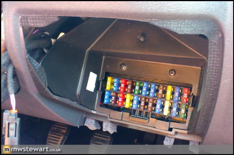 Ford Fiesta 2000 Fuse Box Diagram