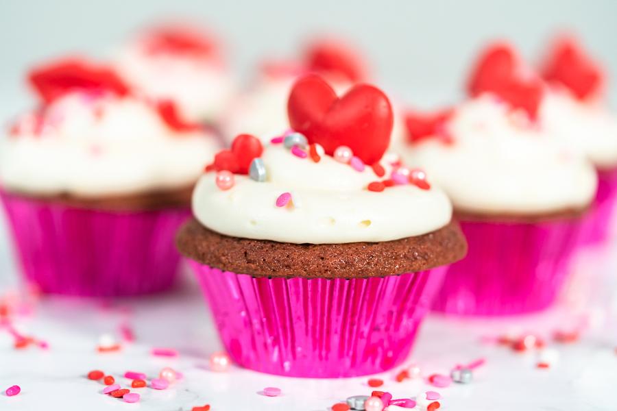 Red Velvet Valentines Day Cupcakes