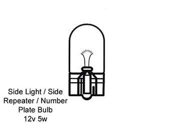 Mk2 2.5 MX5 1998 2005, Bulbs for Mazda MX5 Mk2 2.5, Mk2 2