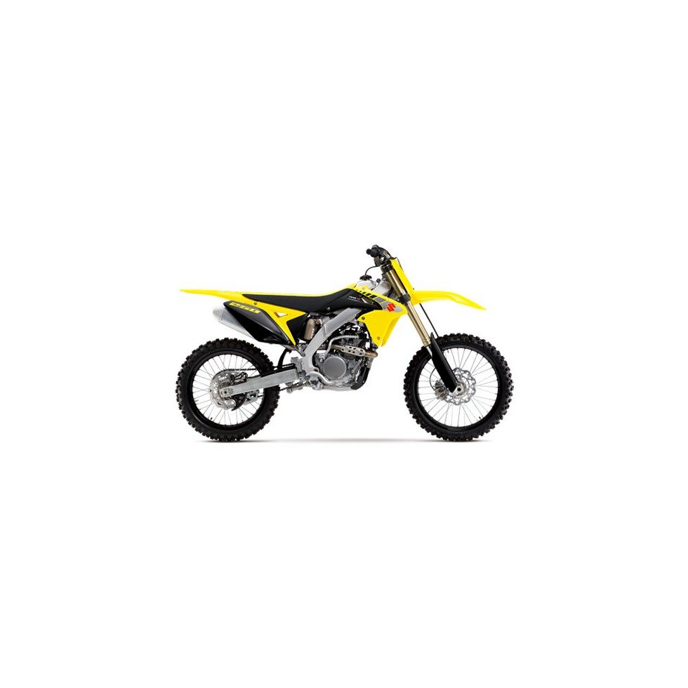 Original Plastik Kit Suzuki RMZ250 im Motocross Enduro