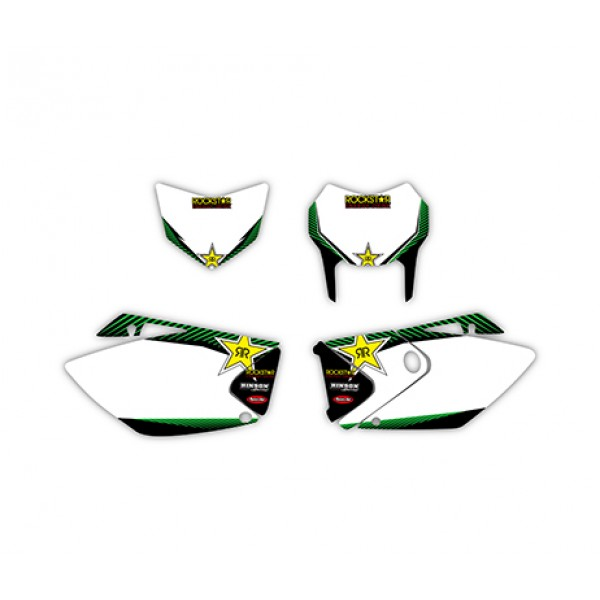 Rockstar Graphics Decals Kit For KAWASAKI KLX450 2008-2012