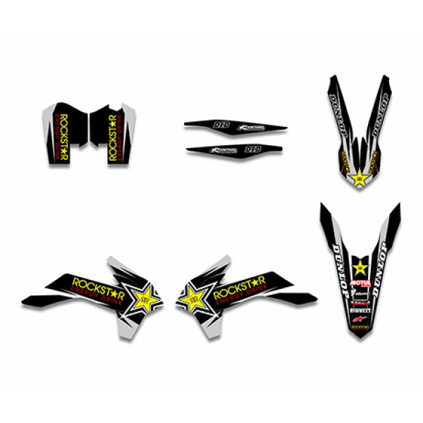 Rockstar GRAPHICS DECALS Kit For KTM 125/200/250/300/450