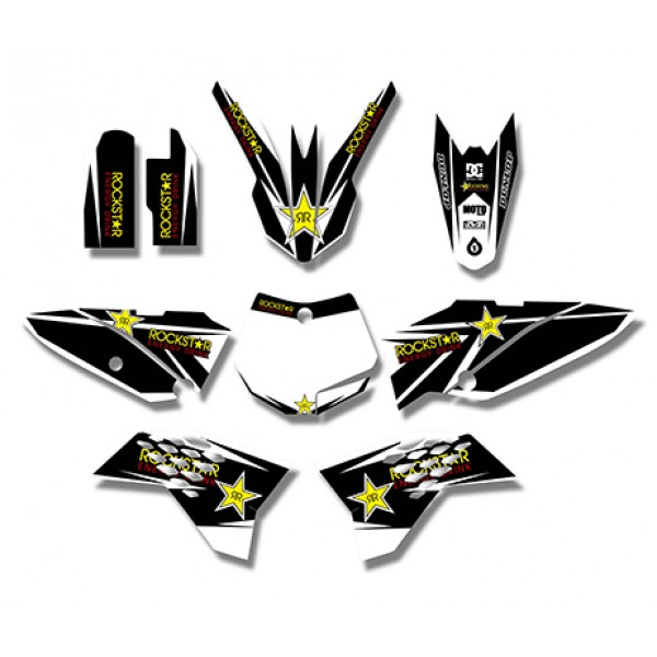 Rockstar GRAPHICS DECALS Kit For KTM SX65 2009-2013(Black