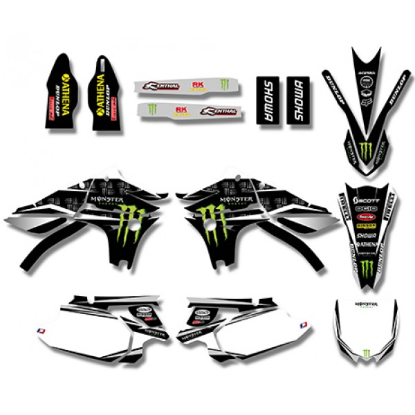 Monster GRAPHICS DECALS Kit For YAMAHA YZ450F YZF450 2010