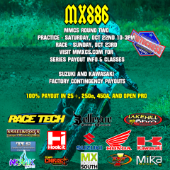 MMCS Round 2 at MX886 this weekend Oct 22/23