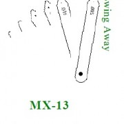 MX-13M Metric Swing Away crack comparator