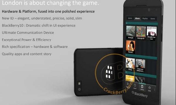 หลุด BlackBerry London ดีไซน์ใหม่สีดำสวยหรู มาพร้อมกับ BlackBerry 10 OS