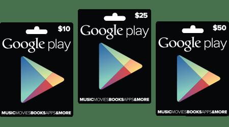 Google เปิดตัว Google Play Gift Card แล้ว เป็นไปตามคาด