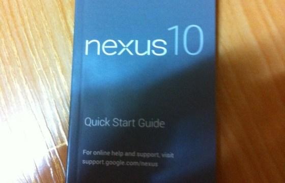 หลุดคู่มือการใช้งาน Nexus 10 และ Nexus 7 แบบ HSPA ก็มาด้วย