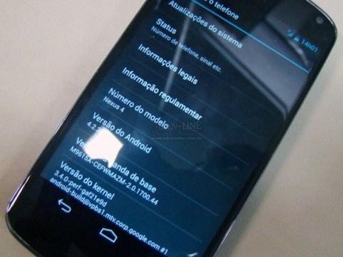 Nexus 4 รุ่นใหม่จะมาพร้อมกับ Android 4.2.2