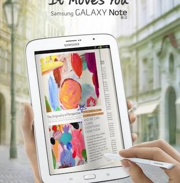 Samsung เปิดตัว Galaxy Note 8.0 เจอกันไตรมาส 2