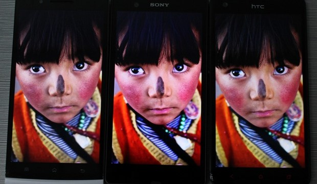 Butterfly / Find 5 / XPERIA Z เปรียบเทียบจอ 1080p