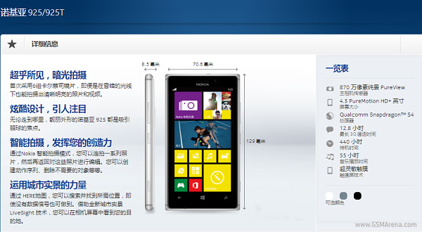 แค่ล้ำกว่า? โนเกียเปิดตัว Lumia 925T ที่จีนแผ่นดินใหญ่