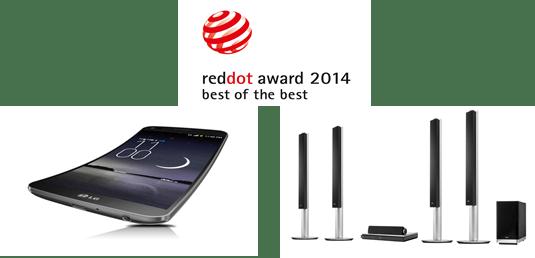 แอลจีคว้า 33 รางวัลสุดยอดดีไซน์จาก RED DOT AWARDS ประจำปี 2557