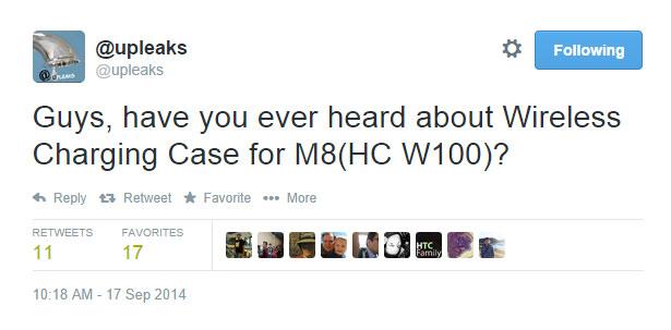 แว่วๆ ว่า HTC One M8 อาจจะมีเคส Wireless Charging ออกมาให้ใช้งานกันด้วย?