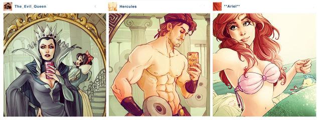 มาดูกันครับ ว่าถ้าตัวละครใน Disney เล่น Instagram อะไรจะเกิดขึ้น