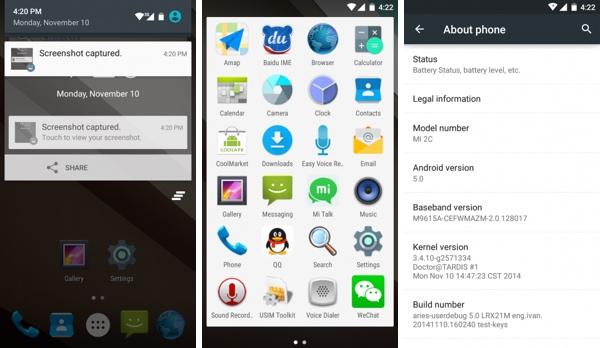 Xiaomi เปิดให้โหลด Android Lollipop สำหรับ Mi 2 และ 2S อย่างไม่เป็นทางการ