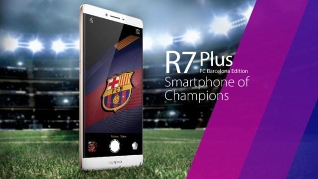 โอกาสพิเศษ Oppo เปิดตัว R7 Plus ตกแต่งในธีมสโมสรฟุตบอลยักษ์ใหญ่ FC Barcelona