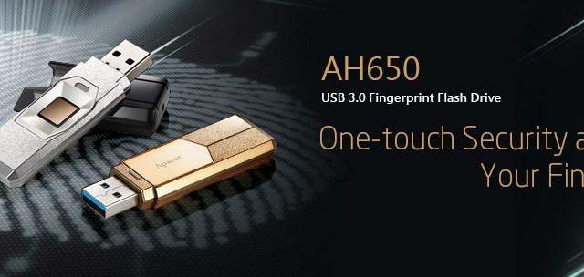 Apacer AH650 แฟลชไดร์ฟพร้อมระบบสแกนลายนิ้วมือ