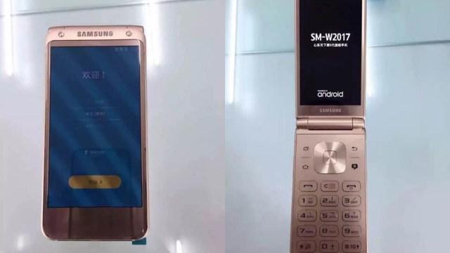 เผยโฉมสีชมพู (Rose Gold) บนสมาร์ทโฟนฝาพับ Samsung SM-W2017