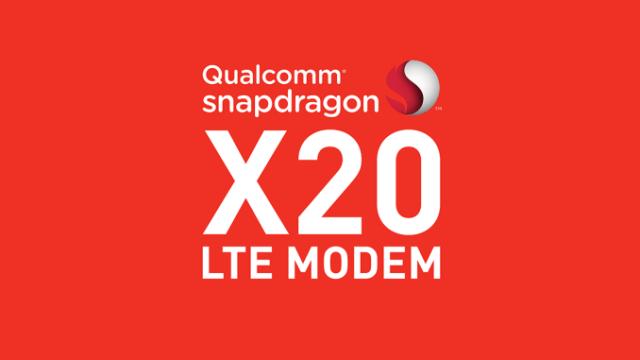 Qualcomm Snapdragon X20 ชิปโมเด็ม Gigabit LTE รุ่นสองจัดทีเด็ด Dual-VoLTE