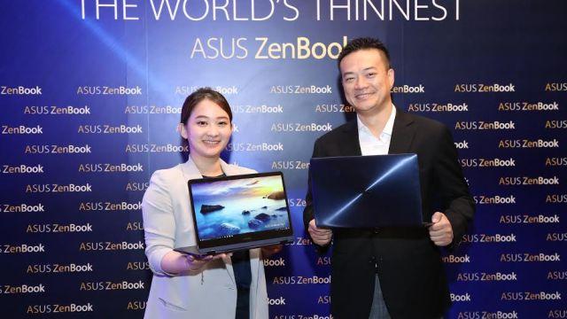 Asus เปิดตัวแล็ปท็อปซีรี่ย์ที่บางที่สุดในโลก เตรียมพร้อมวางขายในประเทศไทย
