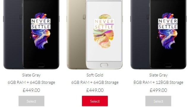 จับสังเกต OnePlus 5 ใกล้หมดสต๊อค คาดกรุยทางเปิดตัวรุ่นใหม่