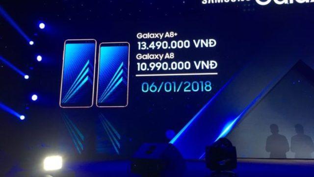 Samsung คอนเฟิร์ม Galaxy A8 (2018) / A8+ (2018) เริ่มขายที่เวียดนาม 6 ม.ค.