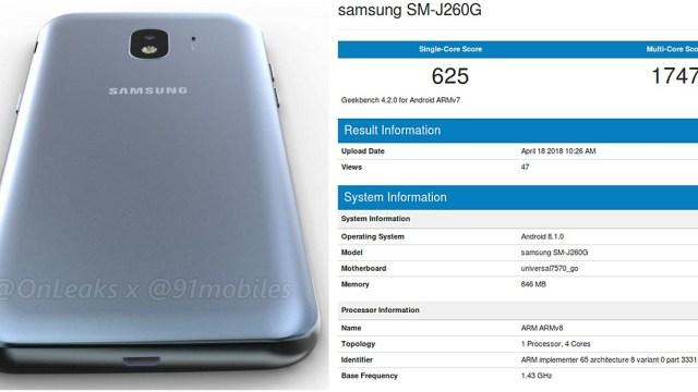 ลือ SM-J260G อาจจะเป็นสมาร์ทโฟน Android Go รุ่นแรกของ Samsung