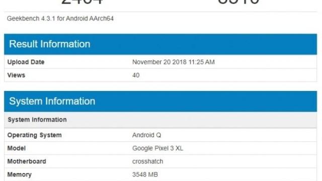 มาเร็วเวอร์ Google Pixel 3 XL โผล่ทดสอบกับ Android Q แล้ว
