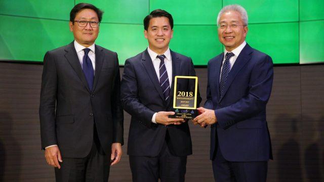 กลุ่มทรู รับรางวัลรายงานความยั่งยืนระดับยอดเยี่ยม ประจำปี 2561