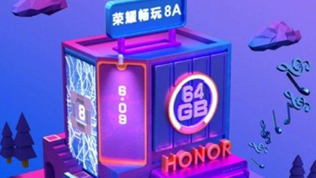 Honor 8A ล็อคคิวเปิดตัว 8 ม.ค. มีความจุ 64G ใช้จอติ่งทรงหยดน้ำ