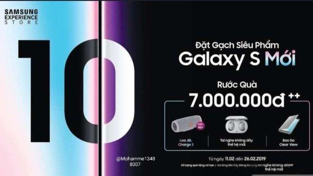 Samsung เวียดนาม แถมหูฟัง Galaxy Buds ให้ลูกค้าพรีออเดอร์ Galaxy S10