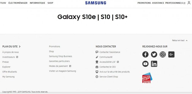 คอนเฟิร์ม Samsung ใช้ชื่อ Galaxy S10e สำหรับเรือธงรุ่นเล็ก