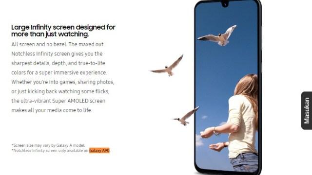 Samsung หลุดเบาะแสยัน Galaxy A90 ดีไซน์จอไร้ขอบ ไร้ติ่ง