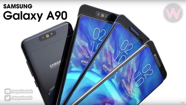 เผยดีไซน์ Samsung Galaxy A90 จอไร้ขอบ กล้องสไลด์หมุนได้