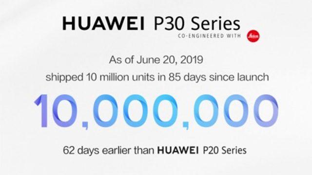 Huawei P30 series ทำยอดขาย 10 ล้านเครื่อง ภายในเวลา 85 วัน