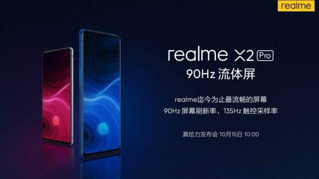 จอ Realme X2 Pro ให้การตอบสนองต่อการสัมผัส 135Hz และมีสแกนลายนิ้วมือความไวสูง