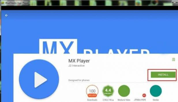 MX Player for Bluestacks