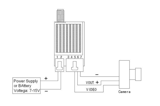 5.8G 600MW wireless video transmitter Transmission system
