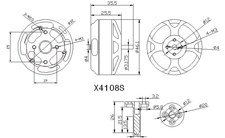 SUNNYSKY X4108S 380KV Outrunner Brushless Motor for Multi