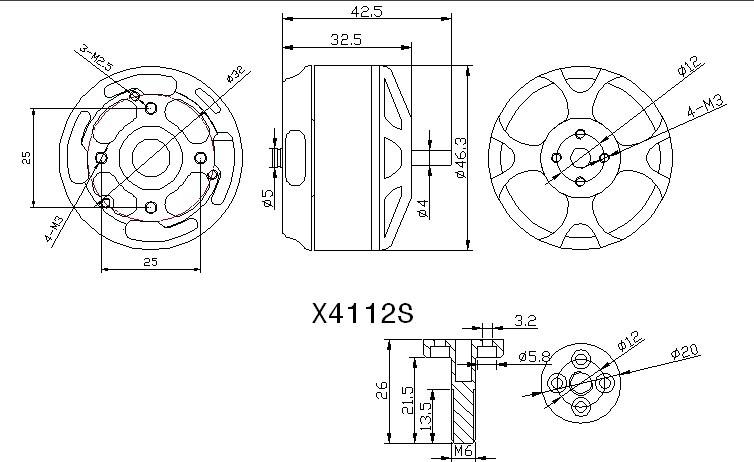 SUNNYSKY X4112S 400KV Outrunner Brushless Motor for Multi