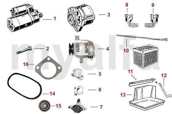 Alfa Romeo SPIDER (105/115) STARTER/GENERATOR