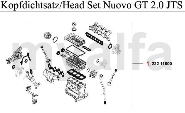 Alfa Romeo NUOVO GT Engine, Engine Parts & Alfa Romeo