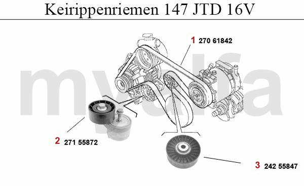Alfa Romeo 147 V-BELTS 1.9 JTD 16V