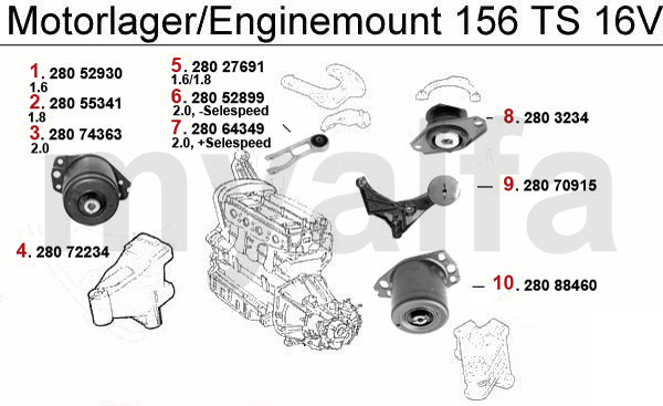 Alfa Romeo 156 ENGINEMOUNT TS16V