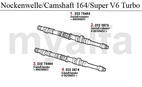 Alfa Romeo 164/SUPER VALVE GEAR 2.0 V6 Turbo CAMSHAFT
