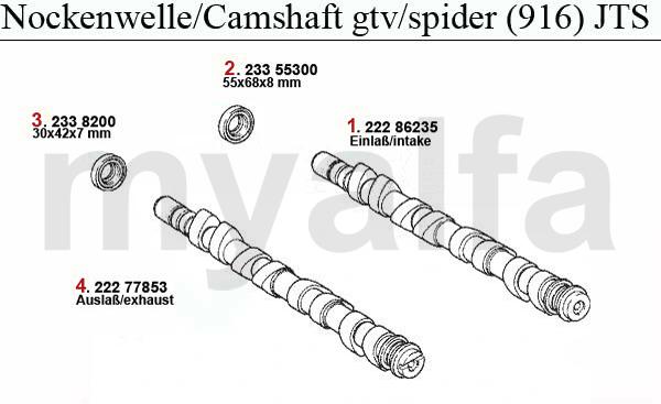 Alfa Romeo GTV/SPIDER (916) VALVE GEAR 2.0 JTS CAMSHAFT